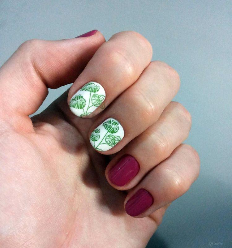 Manicure hybrydowy + malowanie 1 kolor