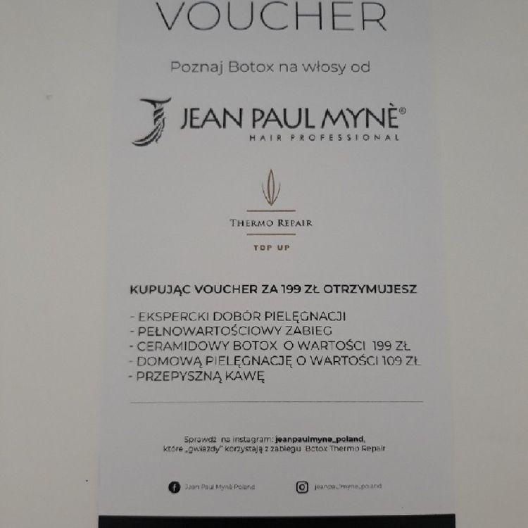 Zapraszamy po vouchery na usługę Botox z firmy Wegańskich kosmetyków JEAN PAULMYNE.