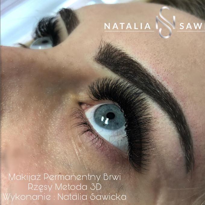Studio Tatuażu, Medycyna Estetyczna, Brwi i rzęsy, Makijaż - Natalia Sawicka - Permanentny - Rzęsy - Paznokcie