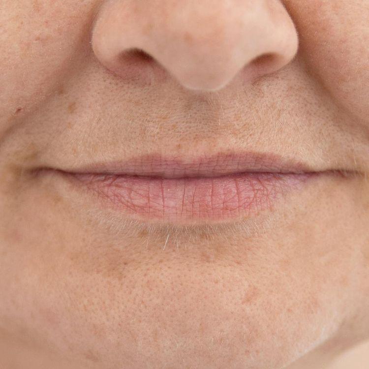 Makijaż permanentny - usta / zdjęcie przed