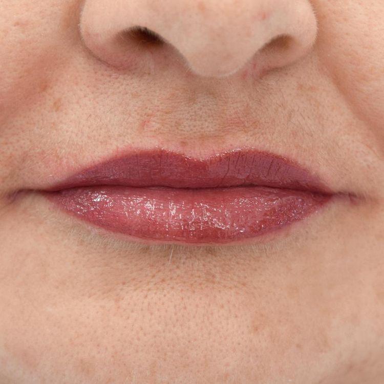Makijaż permanentny - usta / zdjęcie po