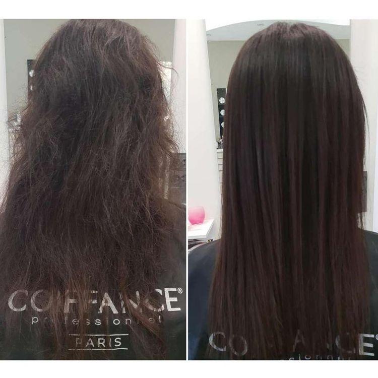Keratynowe Prostowanie włosów keratyną Brazylijską od Coiffance