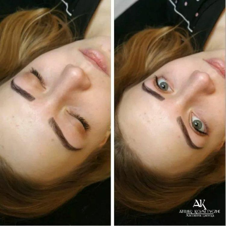 Makijaż permanentny brwi metodą hybrydową