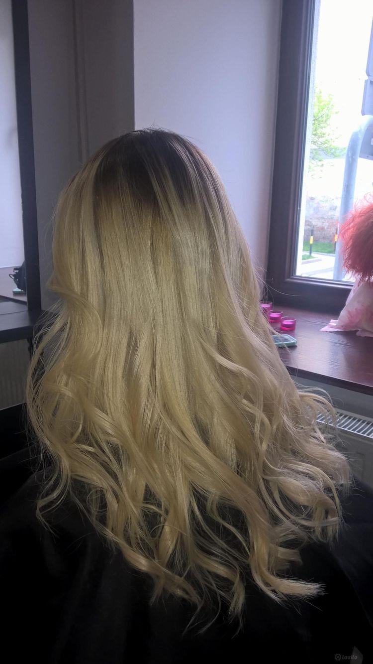 Koloryzacja z refleksami/ombre/sombre z myciem, strzyżeniem i modelowaniem – długie włosy
