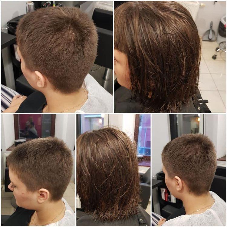 Strzyżenie damskie z myciem i modelowaniem – krótkie włosy