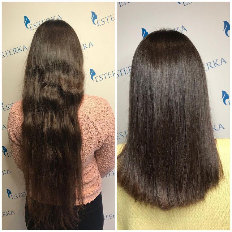 Keratynowe Prostowanie włosów INOAR  - włosy średnie (do ramion)