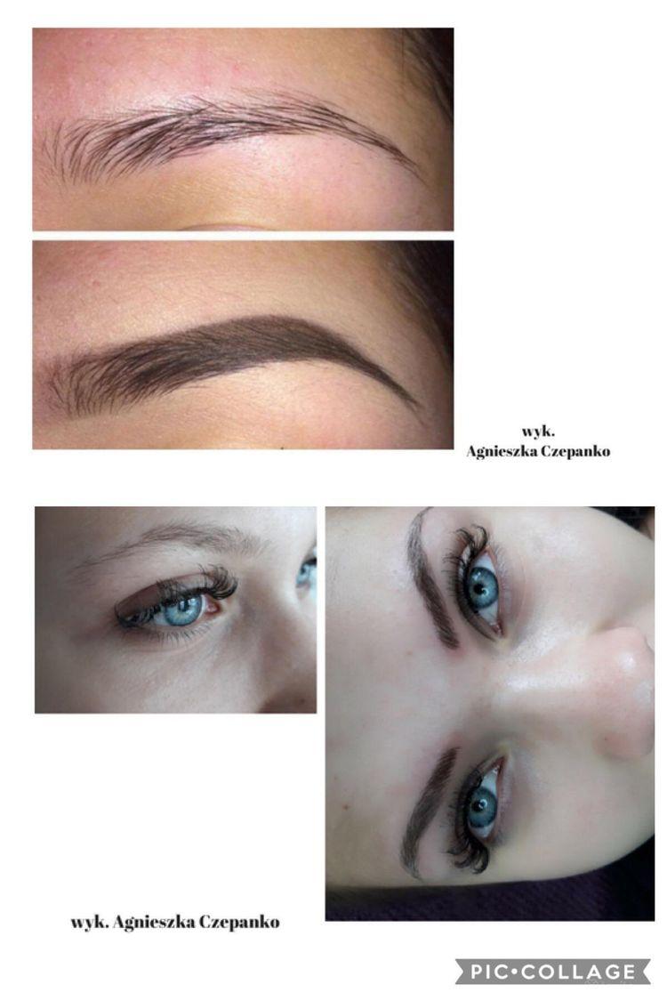 Makijaż permanentny brwi metodą Ombre/Pudrowe