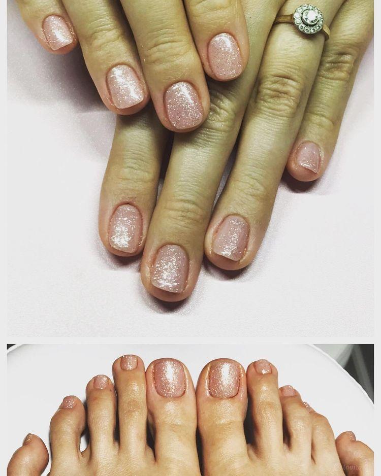 Komplet manicure + pedicure hybrydowy