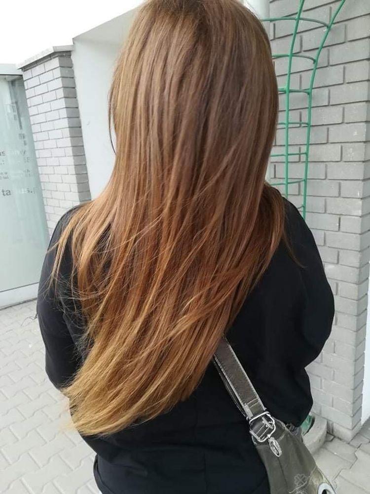 Koloryzacja wielotonowa włosy długie