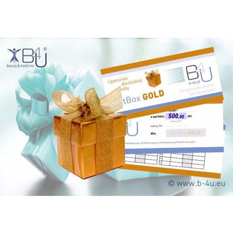 Bony upominkowe, prezentowe, vouchery na zabiegi i serie zabiegowe. Upominki, prezenty, gifty. GiftBox GOLD.