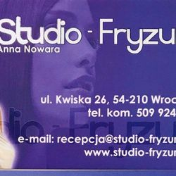 Anna Nowara Salon fryzjerski Wrocław - Studio-Fryzur.net, Kwiska 26, 50-001, Wrocław