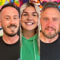 Alun, Charlotte, James - Tame The Mane Barber Shop