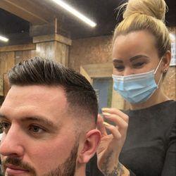 Laura- senior barber - SKINS & NEEDLES BARBERS